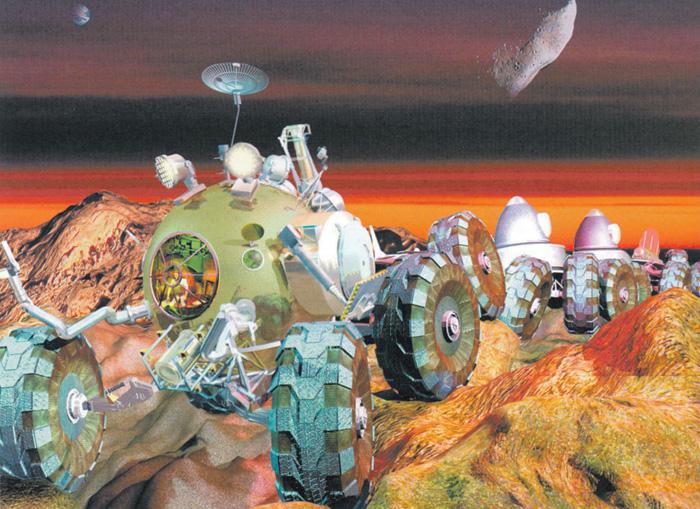Марсианский поезд (советский проект 60-х годлов)/ © energia.ru