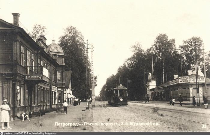 Район Болотной улицы в Петербурге (Петрограде) в Выборгском районе