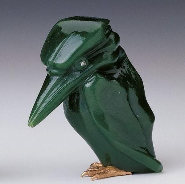 Камнерезные фигурки птиц фирмы Фаберже из королевской коллекции, фото № 3