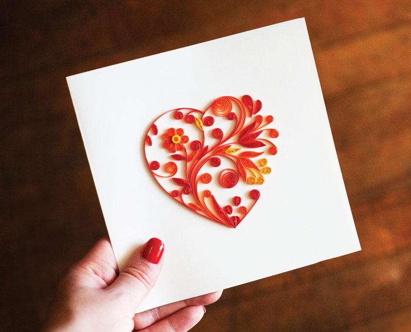 Сделать из бумаги красивую открытку