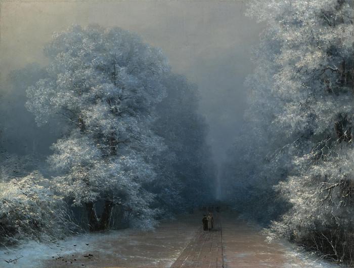 Зимний пейзаж. И. Айвазовский, 1876 год. | Фото: history-of-art.livejournal.com.