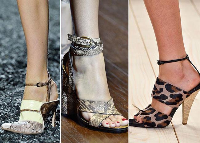 Обувь с принтом животных и рептилий - тенденции весна-лето 2015