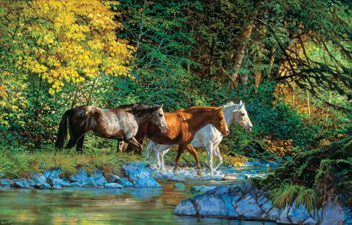 лошади художник Bonnie Marris - 07