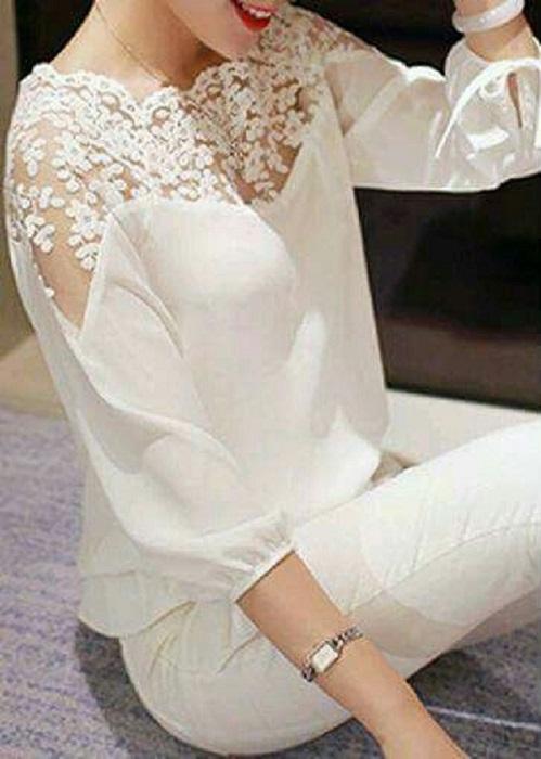 Легкая, свободная блузка - прекрасный вариант для весенне-летнего периода.