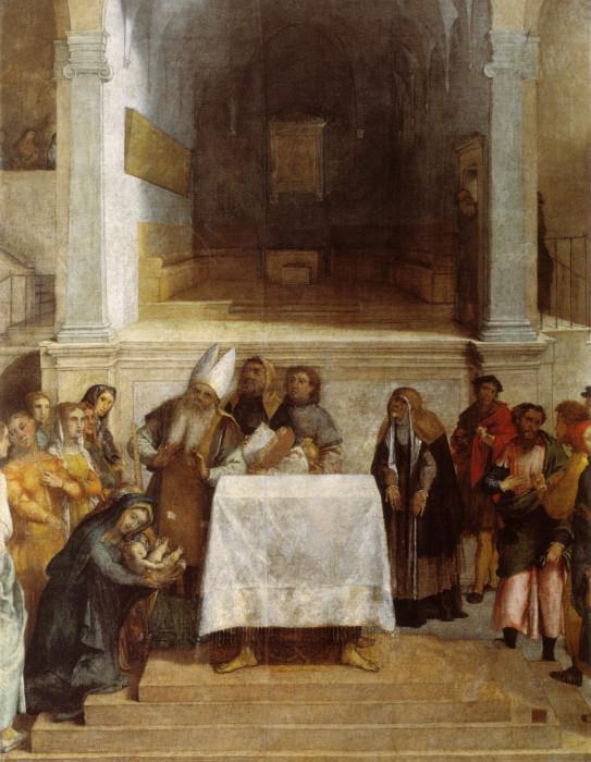 Лоренцо Лотто. Принесение во храм