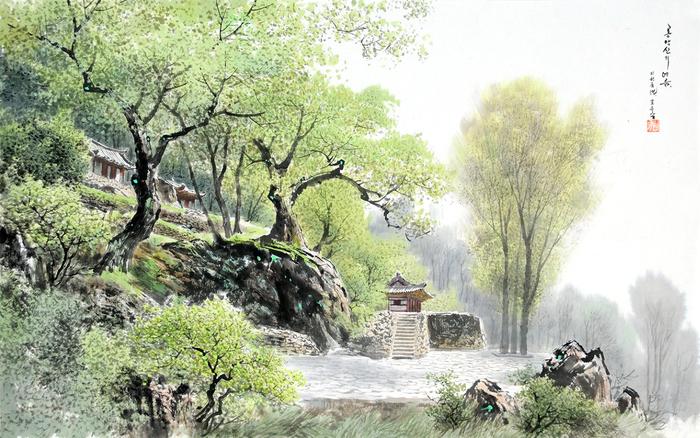 로유담_13_룡악산의 여름 - Гора Рёнъаксан летом. 2006 (700x438, 445Kb)