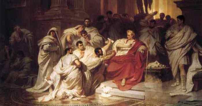 Смерть Цезаря: убийство или самоубийство.
