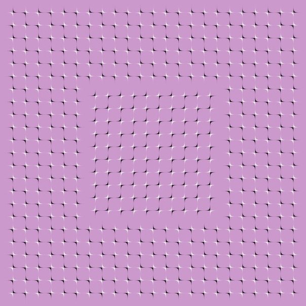 оптические иллюзии, движение квадрата