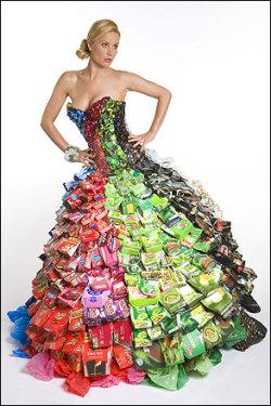 платье из пакетиков от сока