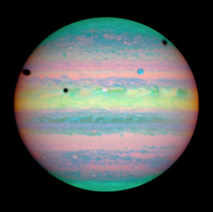 Тройное затмение на Юпитере