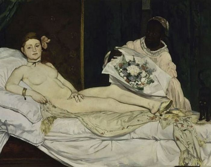 Картина «Олимпия», худ. Эдуард Мане.