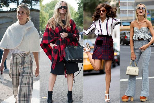 Уличная мода весна-лето 2015: Модная клетка