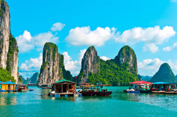 Куа Ван, бухта Халонг, Вьетнам Сказочно, города, красиво, места, мир, пейзаж, планета, фото