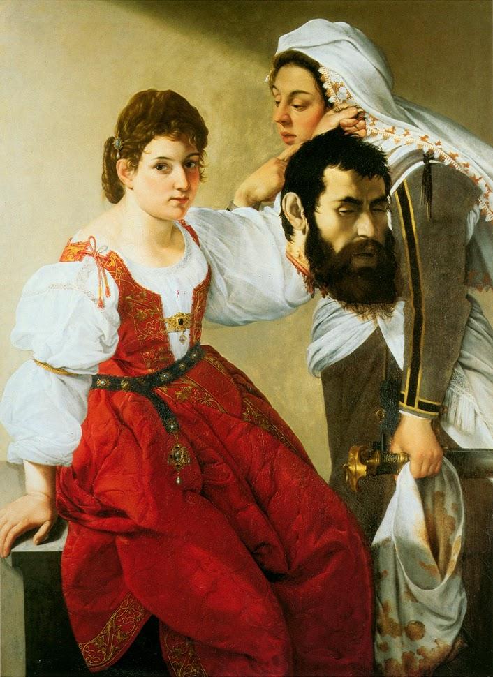 «Юдифь и её служанка Абра с головой Олоферна» (1607-1610)