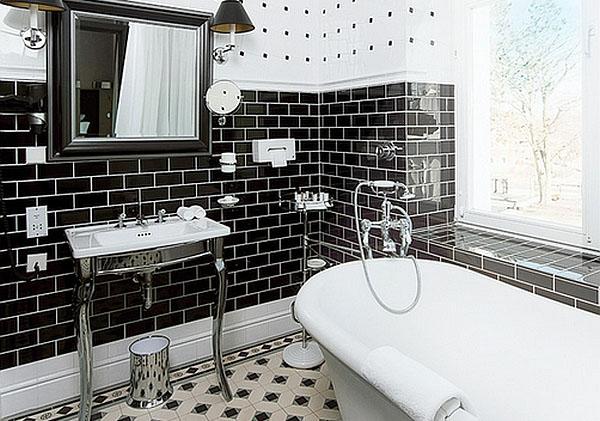 Чёрно-белые ванные: вечный тренд элегантности