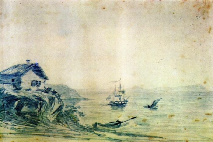 Тамань. Масло. (1837 год). Автор: М.Ю. Лермонтов.