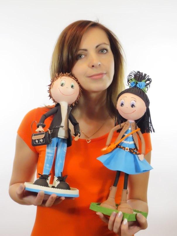 Мальчик и девочка - куклы из фоамирана от евгении романовой
