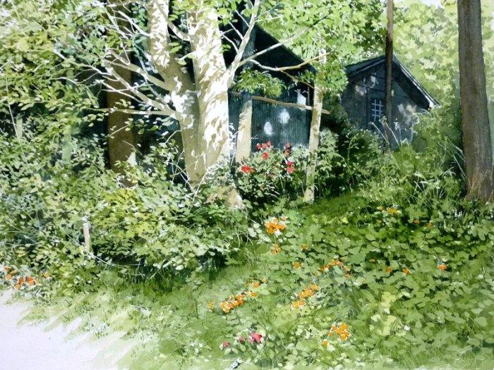 Притаившийся среди деревьев. Автор: Abe Toshiyuki.