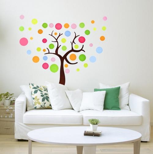 как сделать дерево на стене