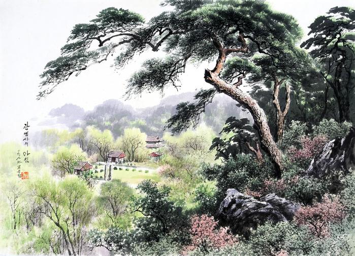 로유담_11_광법사의 아침 - Храм Кванбопса утром. 2004 (700x504, 505Kb)