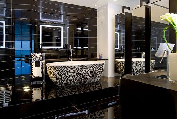 Интерьер ванной от Nieto Design Group