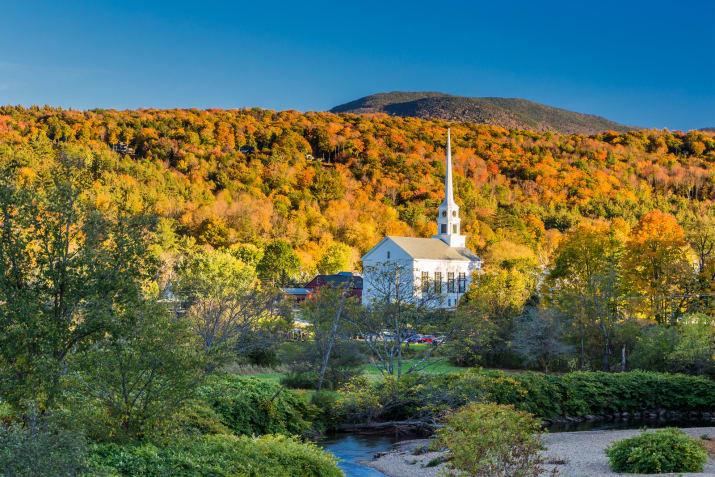 Стоу - штат Вермонт, США Сказочно, города, красиво, места, мир, пейзаж, планета, фото