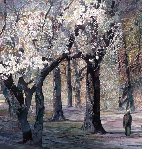 John Salminen. Картины акварелью. Early Bloom. 24х26 дюймов