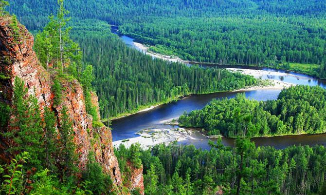 Кислород в России, Сибирь фотография леса, Интересные факты о Странах Мира