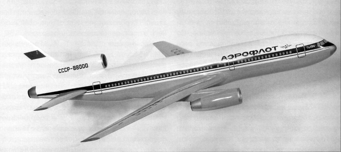 Макет самолёта в первом варианте. /Фото: wikipedia.org