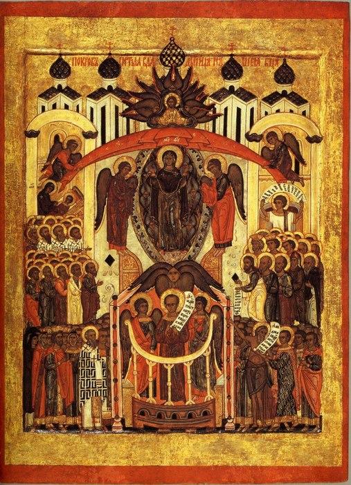 икона Покрова из музея Коломенское конец XVI в (507x700, 148Kb)