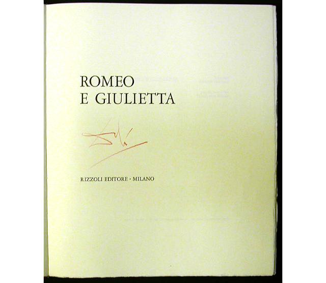 """Объект желания: книга """"Ромео и Джульетта"""" с редкими рисунками Дали (фото 1)"""