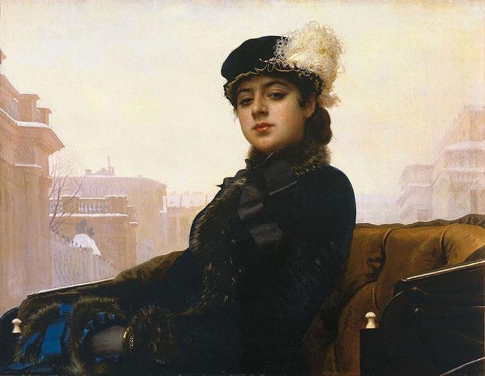Портрет Неизвестной.(1883). Автор: И.Н.Крамской.   Фото: livejournal.com.