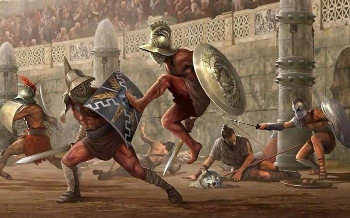 На арене Колизея многие века проводились гладиаторские бои.