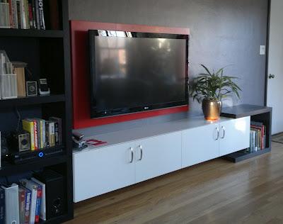 как прикрепить телевизор к стене Собранная рамка