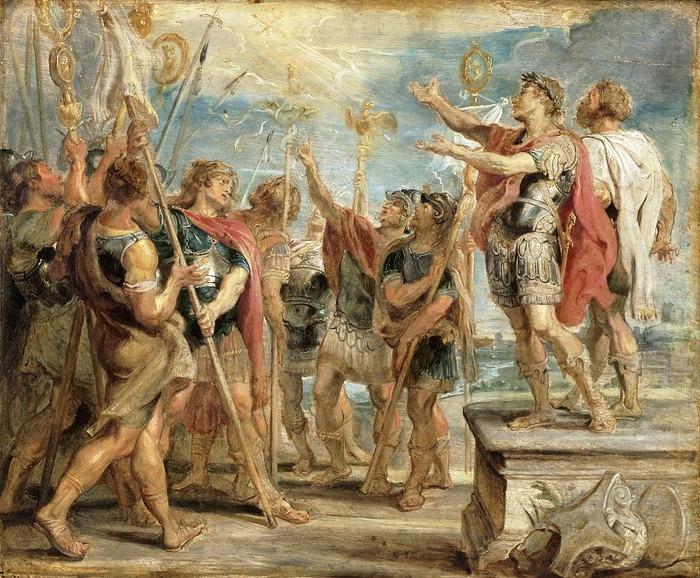 Император Константин и Знамя Христа, Питер Пауль Рубенс (1577-1640).