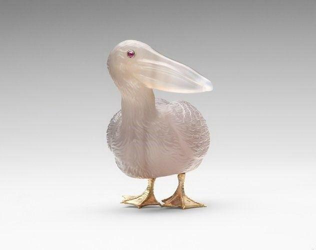 Камнерезные фигурки птиц фирмы Фаберже из королевской коллекции, фото № 1