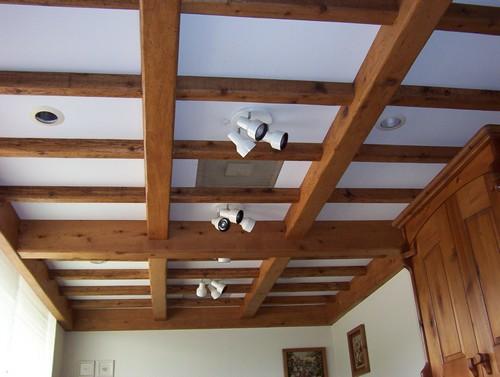 деревянные потолки кессонные