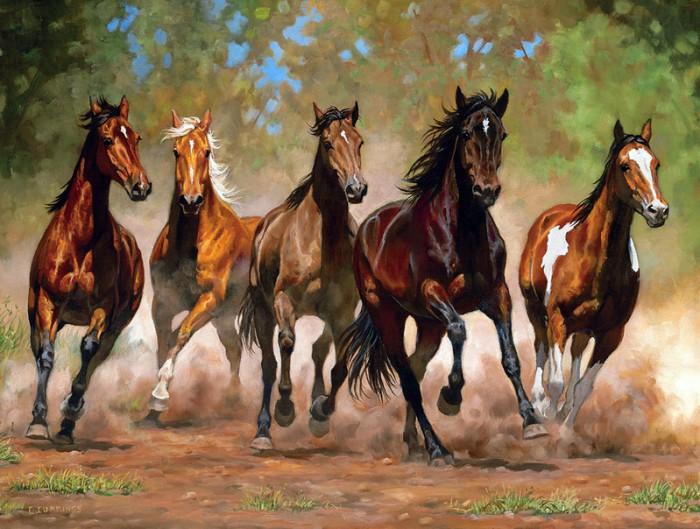 лошади художник Bonnie Marris - 06