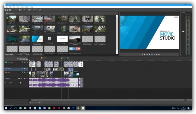 Программы для монтажа видео: VEGAS Movie Studio
