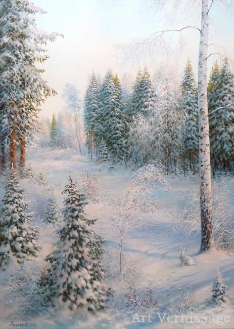 Зимний Ð»ÐµÑ - картина Ð'.Ð.Палачева