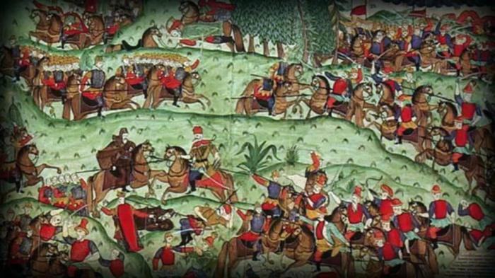 Историки называют разные цифры численности войск Дмитрия и Мамая