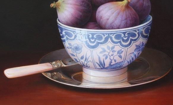 Figs, Bowl & Silver Plate (583x355, 41Kb)