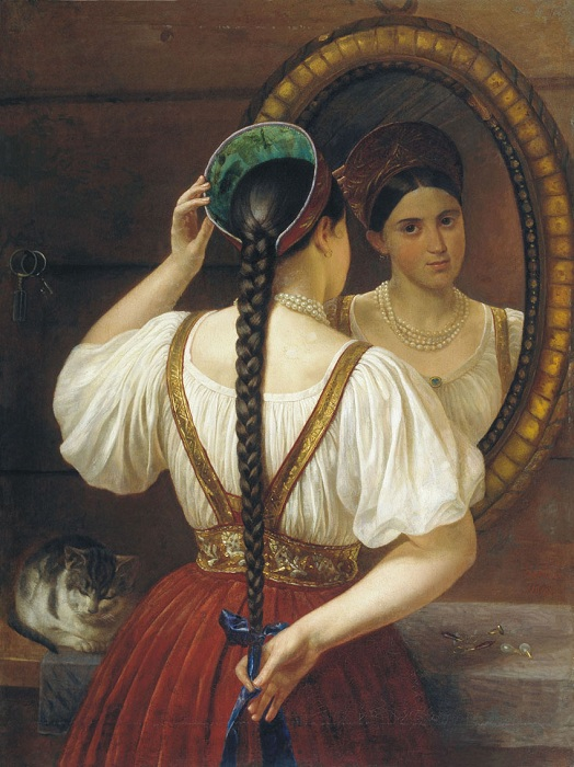 Девушка перед зеркалом. Автор: Филипп Будкин.