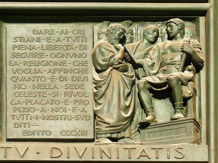 Миланский эдикт положил конец гонениям первых христиан.