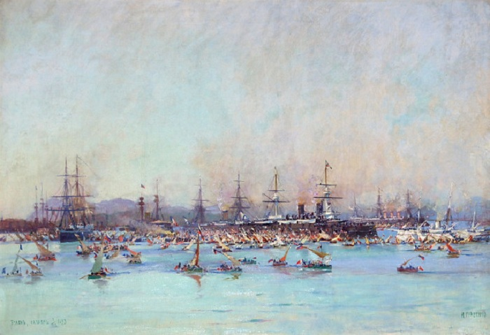 Русская эскадра в Тулоне в 1893 году. (1893). Автор: Гриценко Н. Н.