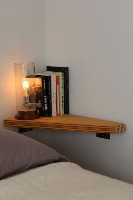 Идея №3. Небольшая угловая полочка для книг