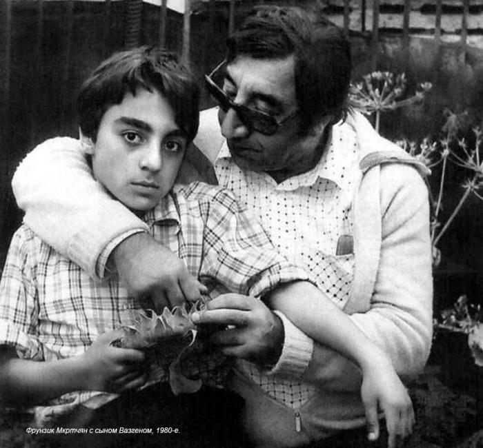 Фрунзик Мкртчан с сыном. / Фото: www.fishki.net