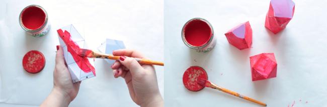 Покрываем формы краской для большей прочности изделия