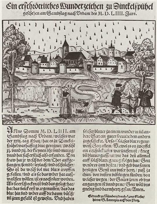Кровавый дождь в Динкельсбюле 26 мая 1554 года, Ханс Глейзер.