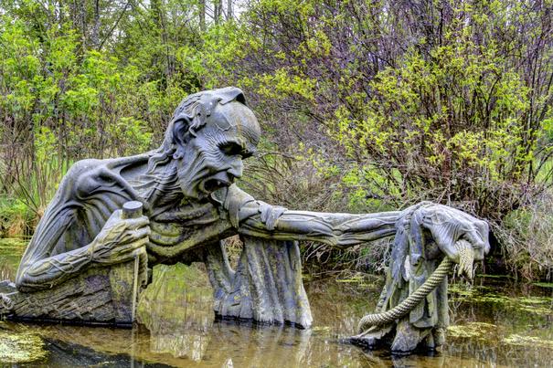 """Скульптуры из индийского """"парка ужасов"""" в Ирландии Прикольные и смешные, индия, ирландия, парк, скульптуры"""